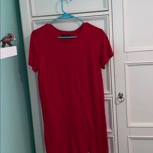 Forever 21 red mini tee shirt dress